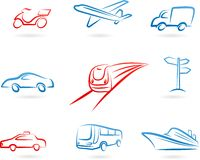 Transport concept icon set Royalty Free Stock Photos