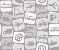 Transport and construction equipment, light gray background, seamless. Stock Image