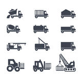 Transport and construction vehicles Royalty Free Stock Photos