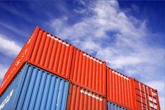 Transport container Royalty Free Stock Photos