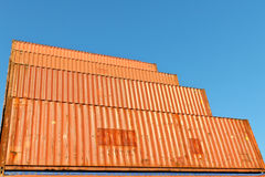 Transport containers at warehouse Stock Image