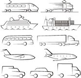 Transport contours Stock Images