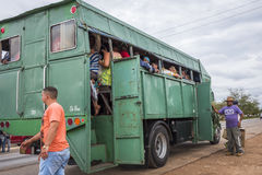 Transport in Cuba with converted truck Royalty Free Stock Photo