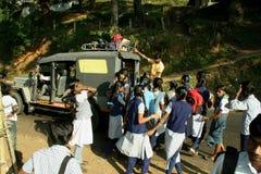 Transport d'école, Inde Photos libres de droits