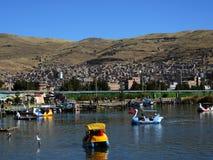 Transport dans Puno, Pérou Photographie stock
