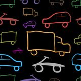 Transport and dark background Stock Images
