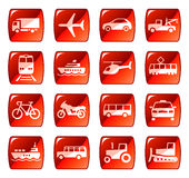 transport de 4 graphismes de boutons Images stock