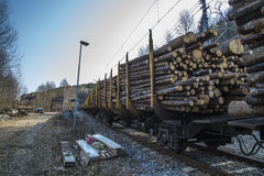 Transport de bois de construction Image stock