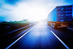 Transport de camion de récipient Photo stock