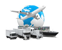 Transport de cargaison mondial Photos libres de droits