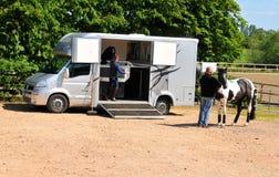 Transport de cheval photo stock