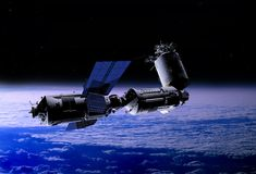 Transport de l'espace illustration libre de droits