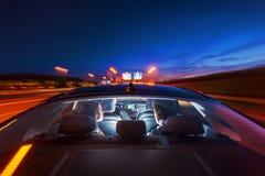 Transport de luxe dans la navette d'aéroport Image stock