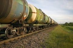 Transport de pétrole par chemin de fer Image stock