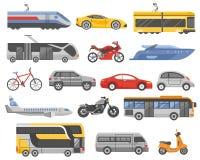 Transport Decorative Flat Icons Set Stock Photo