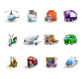 Transport And Delivery Icons Set Royalty Free Stock Image