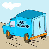 Transport or delivery van Stock Photos
