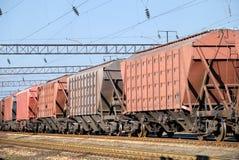 Transport der Ladungen durch Schiene Lizenzfreies Stockbild