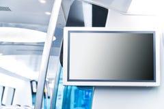 Transport der LCD-Bildschirm-Mitteilung öffentlich Stockbild