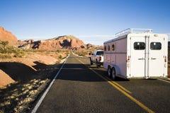 Transport des chevaux Image libre de droits
