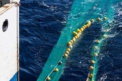 Transport des filets de pêche de chalut à panneaux Photographie stock