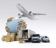 Transport des marchandises international Photographie stock libre de droits