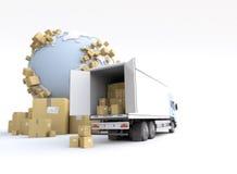 Transport des produits illustration de vecteur