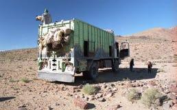 Transport in desert Stock Images