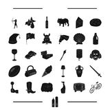 , transport, dessert and other web icon in black style. animal, travel icons in set collection. Stock Photo