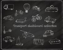 Transport doodle set chalkboard Royalty Free Stock Photography