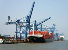 Transport, eksport, import, Ho Chi Minh port Fotografia Royalty Free