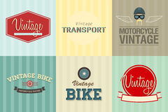 Transport emblems Royalty Free Stock Photos