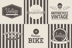 Transport emblems Royalty Free Stock Photography