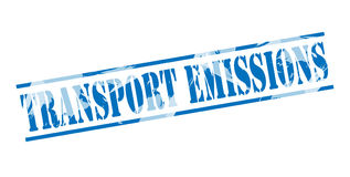 Transport emissions blue stamp Royalty Free Stock Photography