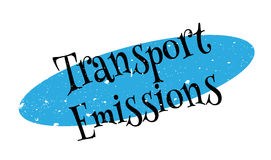 Transport Emissions rubber stamp Royalty Free Stock Photos