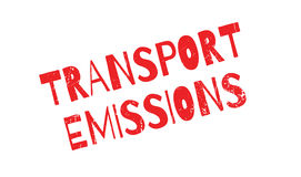 Transport Emissions rubber stamp Stock Photo