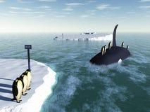 Transport en commun de pingouin Photo libre de droits