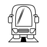 Transport en commun de vehicule d'autobus d'ensemble Photos libres de droits