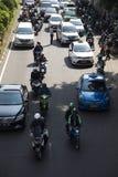 Transport en ligne APP en Indonésie Photos libres de droits