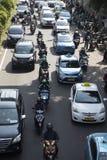 Transport en ligne APP en Indonésie Photo libre de droits