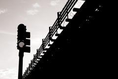 Transport en noir et blanc photographie stock libre de droits