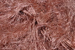 Transport energy, copper wires Royalty Free Stock Photography