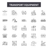 Transport equipment line icons, signs, vector set, linear concept, outline illustration royalty free illustration