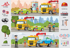 Transport Evacuation Infographic Template Royalty Free Stock Images