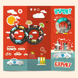 Transport - Export Import Vector Royalty Free Stock Images