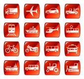 transport för 4 knappsymboler Arkivbilder