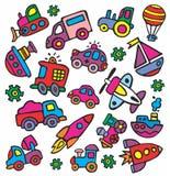 transport för stil för barnteckningar s Arkivbilder