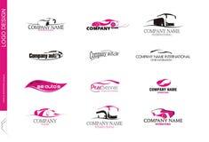 10 Transport företag logo MM Royaltyfri Bild