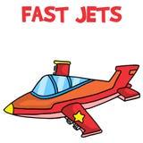 Transport of fast jets cartoon Stock Photos