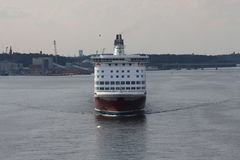 Transport. Ferry. Front view. Stock Photography